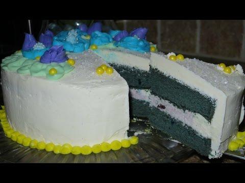 Blue Velvet Blueberry Cake