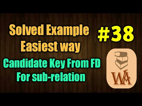 candidate key in dbms in hindi | candidate key functional dependency | DBMS lectures in hindi | #38
