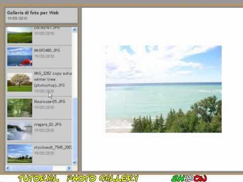 Tutorial Photoshop CS3 - photo gallery (HTML)