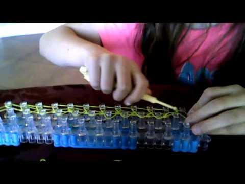 how to make a rainbow loom diamond ring braceclet