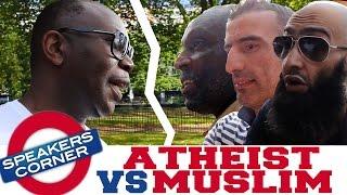 Atheist Gary vs 3 Muslims | Was Muhammad Possessed? | Speakers Corner