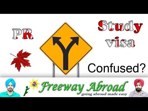 Confused between study visa and PR