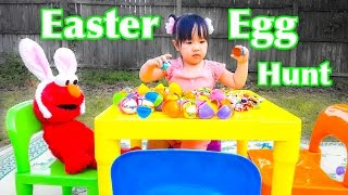 Elmo Rabbit Kids Easter Eggs Hunt -  Annica First Easter Fun Candy for Children Toddlers