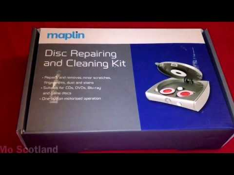 Professional CD DVD Blu-ray Game Discs Scratch Cleaning Repair Kit Unboxing UK 2017