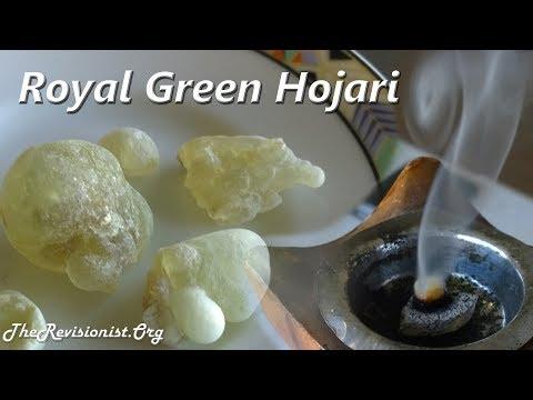 Boswellia Sacra Royal Hojari Green Frankincense Taste Test & Scent Profile