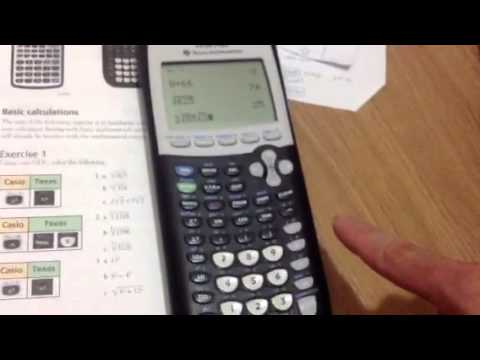 TI84: how to square root, cube root, exponent
