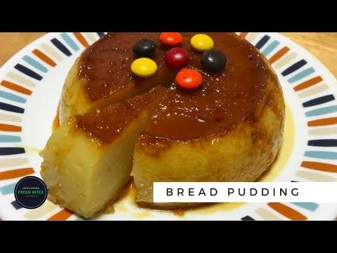 Eggless Custard Bread Pudding   Stove-Top recipe