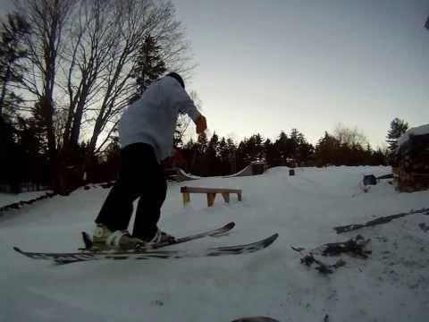 Skiing pvc pipe rail