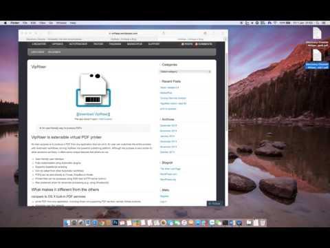 Create PDF file in a range in mac os x el capitan