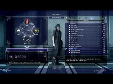 Final Fantasy 15 Elemancy Guide