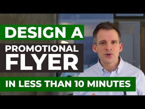 Design a Promotional Flyer in less than 10 Minutes using Canva