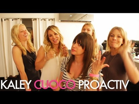Watch as we get Kaley Cuoco glammed up for her Proactiv video shoot | Jamie Greenberg Makeup