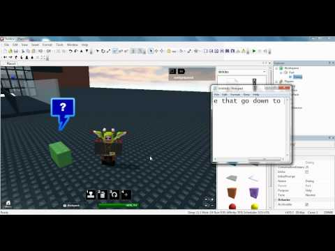 How to make a brick talk on roblox