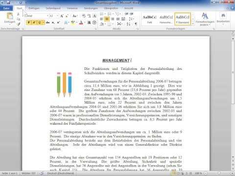Microsoft Word 2010 Das Menüband für eine kurze Zeit minimiert lassen