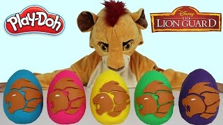 Disney The Lion Guard Play-Doh Surprise Eggs Opening Fun With Kion  Ckn Toys