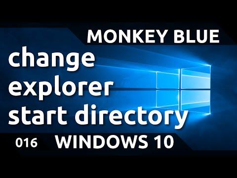 Windows 10: how to change explorer start directory