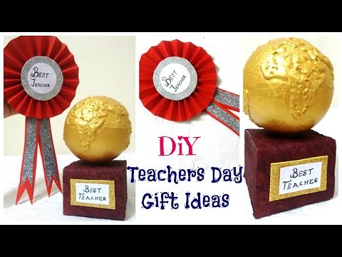 Teachers Day Gift Ideas | 2 Easy DIY | Badge and Trophy