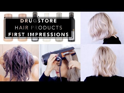 DRUGSTORE HAIR PRODUCTS First Impressions | Milabu