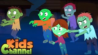 Zombie Town | Schoolies Cartoons | Halloween Song for Children from Kids Channel