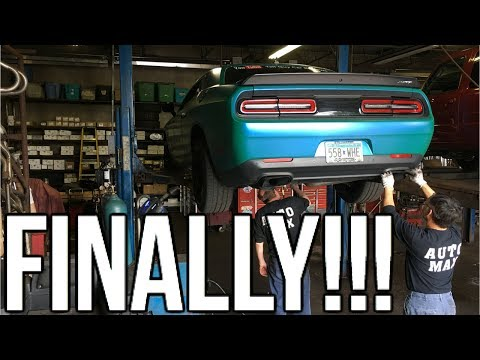 Hellcat Muffler Delete & I Got Pulled Over By The Cops Right After!!