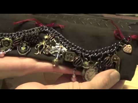 Steampunk chunky charm bracelet