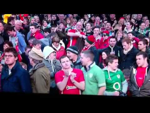 Wales v Ireland 02-02-13 6 nations Wales fan slaps Ireland