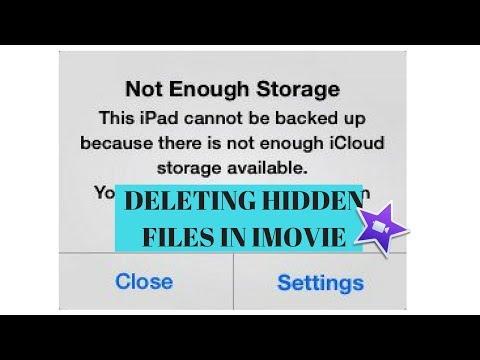 Deleting Hidden Files in iMovie (getting 32 GB of storage!)