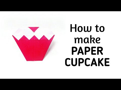 How to make an origami paper cupcake | Origami / Paper Folding Craft, Videos and Tutorials.
