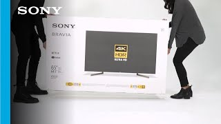 Unboxing and Setup Guide   Sony XBR X900F TV series