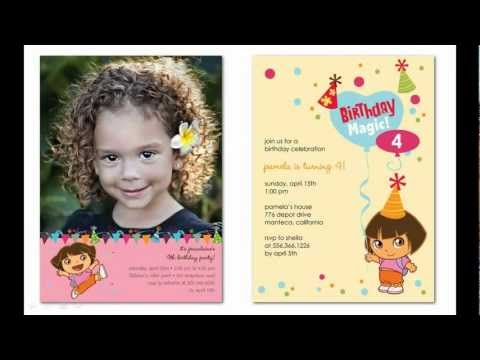 Adorable Dora Birthday Party Invitations That You Can Personalize At Your Fingertips!