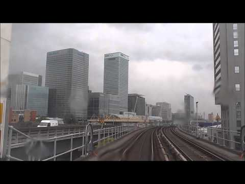 Woolwich Arsenal to Bank via London City Airport DLR timelapse