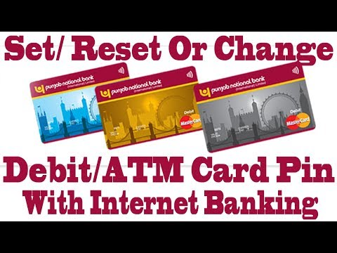 Reset Forgoten PNB ATM/Debit Card PIN Using Internet Banking