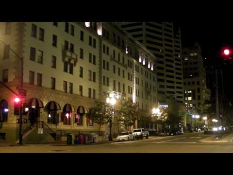 San Diego by night, Driving From the Airport till The Grant Hotel, Downtown.MP4
