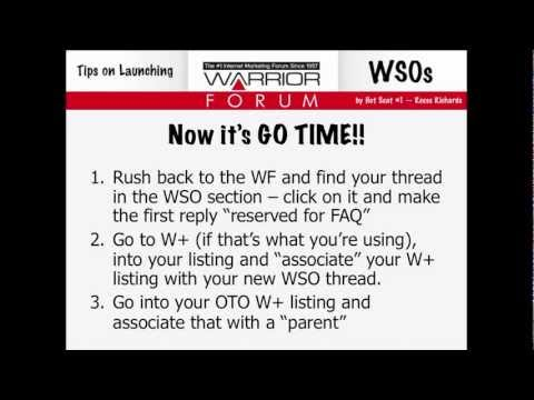 How to Launch a Product on the Warrior Forum using Warrior Plus