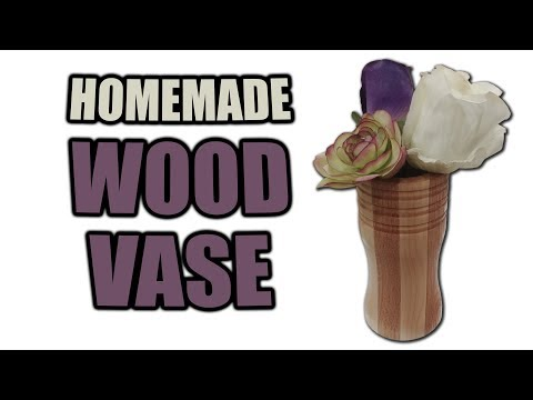 How to Make a Wood Vase - Lathe Project - Gift Idea