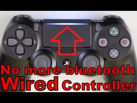 HOW TO MAKE YOUR DUALSHOCK4 CONTROLLER WIRED CONTROLLER! TUTORIAL