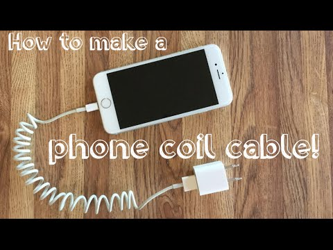How To Make A Phone Coil Cable! DIY