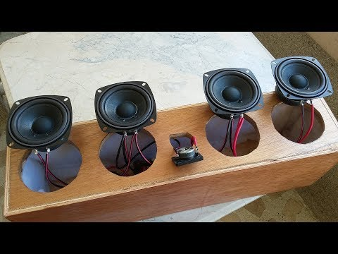 DIY Center Speaker, 2 Way Crossover Build and 4 Speaker Wiring