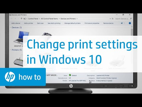 Changing Print Settings in Windows 10