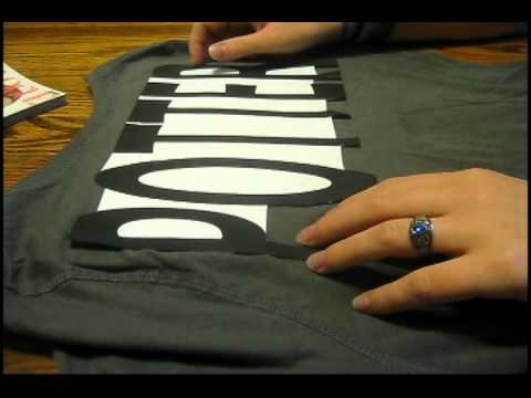 How to make awesome t-shirt letters!