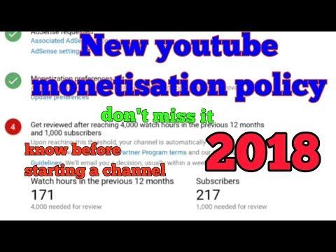 New youtube monetisation policy || youtube money eligibility rules||How to get monetized