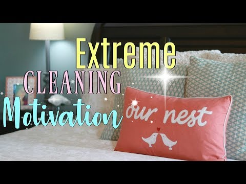 EXTREME CLEANING MOTIVATION   Monday Cleaning Routine   Stay at Home Mom How I Get It All Done!!