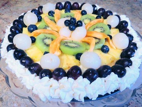 No-bake cheesecake fruit tart