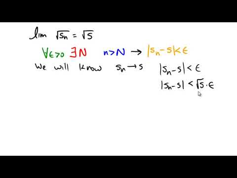 Epsilon-N proof with an already existing sequence