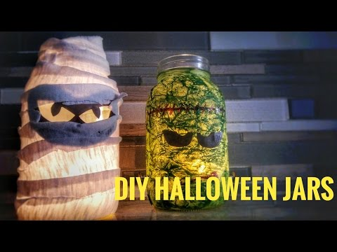 How To Make Halloween Jars - OurHouse DIY