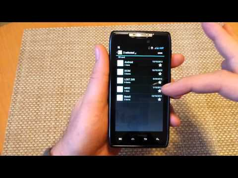 ANY Motorola RAZR Move files folders photos from INTERNAL MEMORY to external SD storage card