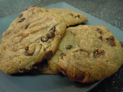 Flourless Peanut Butter Chocolate Chip Cookies   Gluten Free