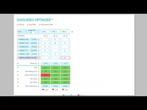DSM Sunscreen Optimizer™ 2nd Tutorial: PERSONALIZATION