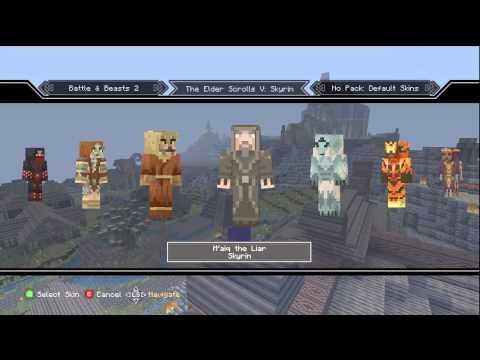 Minecraft Xbox 360 - All Skyrim Mash Up Pack Skins