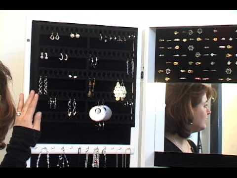 mirrortek jewelry armoire mirror.avi